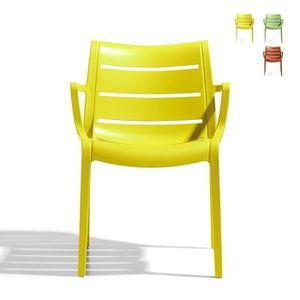 FAUTEUIL JARDIN  4 Chaises design de jardin - SUNSET - Lot de 4 - d