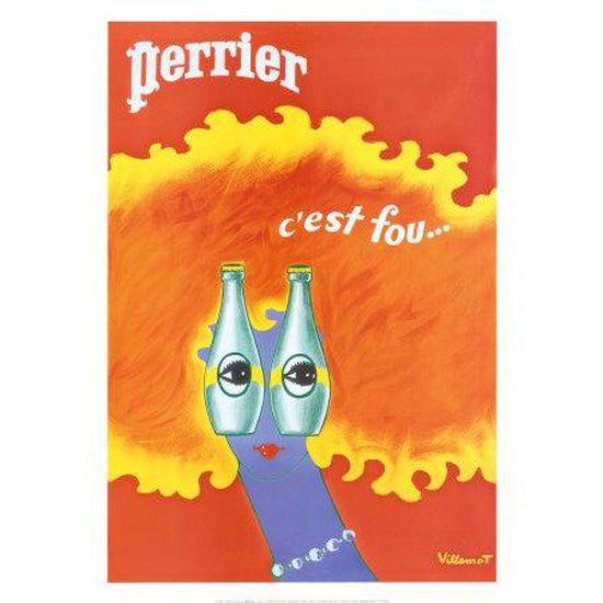 NEUF 50 cm  x 70 cm Poster Affiche ORANGINA de Bernard Villemot