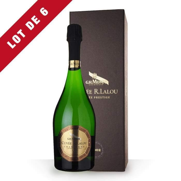 6X Mumm Cuvée R.Lalou 2002 Brut 75cl - Coffret - Champagne