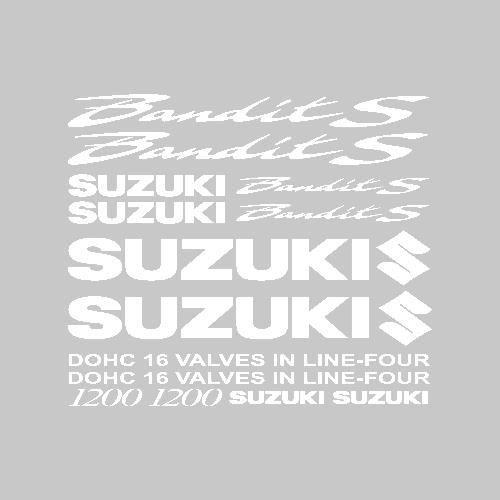 Stickers Suzuki 1200 bandit S Ref: MOTO-116 Blanc