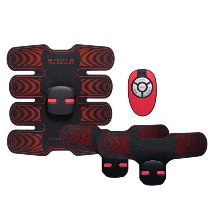 Version améliorée amincissant le corps amincissant la Machine accessoires de Fitness abdominaux élec - Modèle: Rouge - HSJSZHA09436