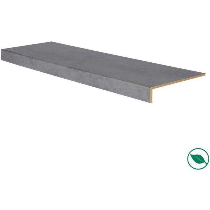 Marche rénovation d'escalier stratifié dark grey 1000 x 300 x 5,6 mm . FORESTEA Dimensions : 1000 mm x 300 mm x 5.6 mm