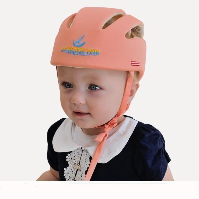Casque Sécurité Bébé Casque de Protection Bébé Sécurité Domestique en Coton Douce Réglable Antichoc*SQ