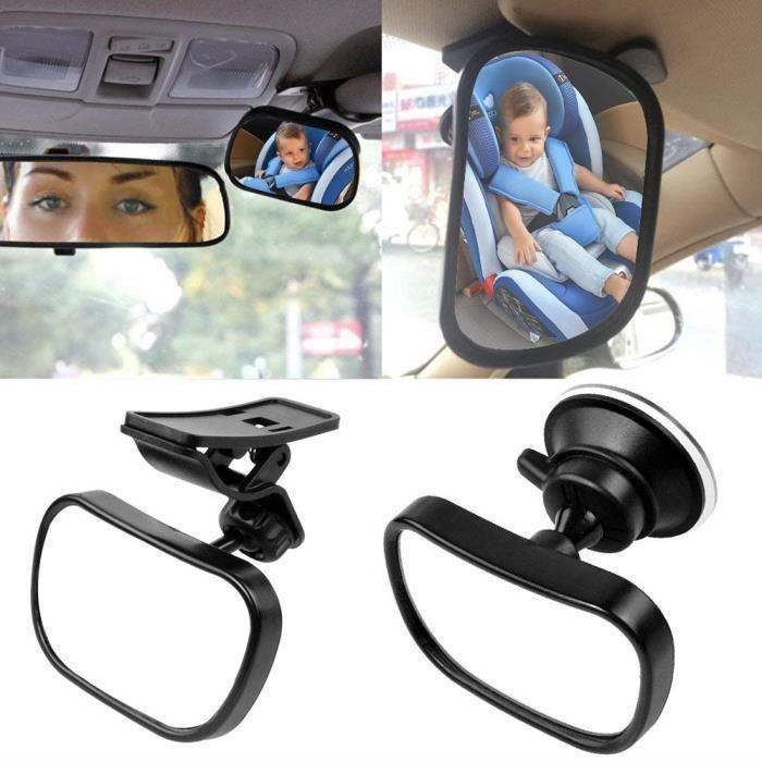 Bébé Vue Arrière Miroir, Miroir Auto Bébé Rétroviseur de Surveillance Bébé pour Siège Arrière Miroir de Voiture pour Bébé