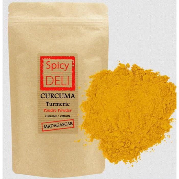 Curcuma poudre de MADAGASCAR 200gr -Agriculture Durable- sachet zip alimentaire.