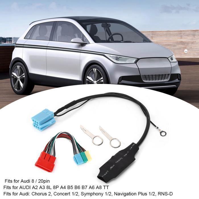 20pin / 8pin Bluetooth 5.0 Adaptateur Audio Connecteur Radio Voiture Stéréo Convient pour Audi A2 A3 8L 8P TT-NIM