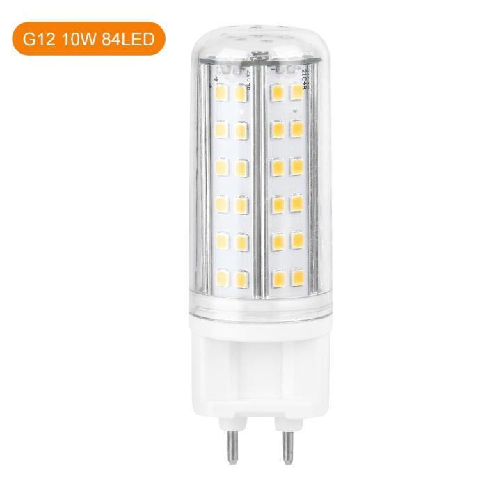 Cikonielf lampe d'ampoule de maïs G12 LED Ampoule De Maïs Lampe 10W Hight Lumineux Maison Avec 85 Perles LED AC85-265V (Blanc
