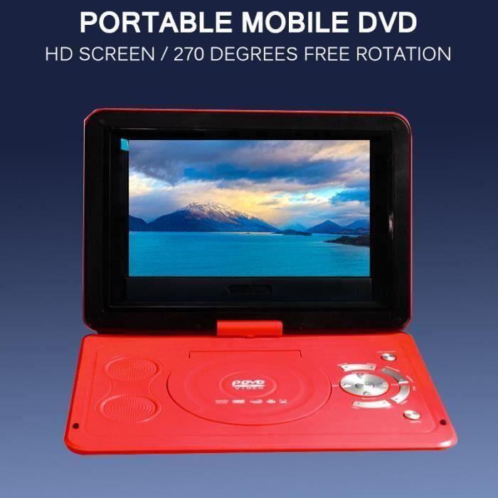 13,9 pouces portable lecteur DVD portable petit téléviseur 270 degrés rotation affichage HD rouge LIA22014