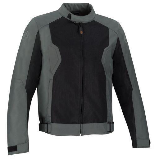 Bering Blouson moto Riko noir gris