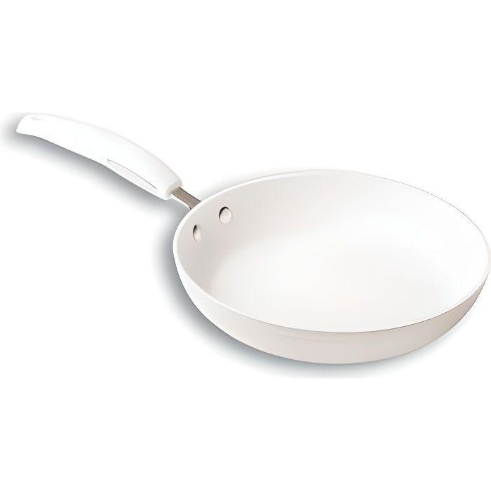 Poêle 24 cm 'blanc'