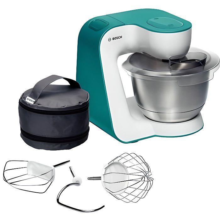 BOSCH - Robot multifonction Kitchen Machine MUM54D00 Blanc et Turquoise