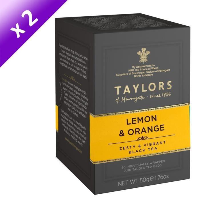 [LOT DE 2] TAYLORS Thé au Citron et à l'Orange - 20 sachets - 50 g