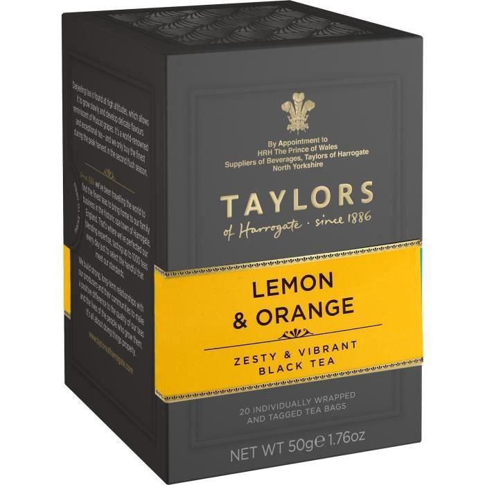 TAYLORS Thé au Citron et à l'Orange - 20 sachets - 50 g