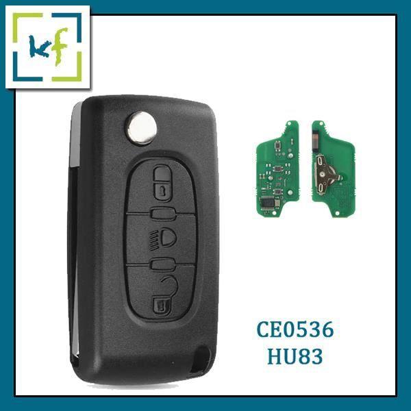 Boitier coque de cl/é plip 3 boutons C-itroen C4 C6 CE0523