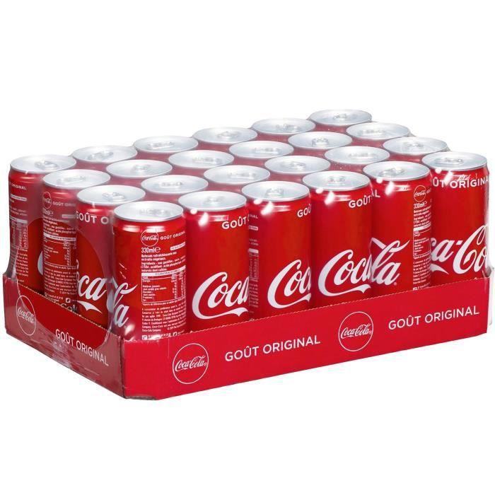 Coca Cola 24 unités de 330ml, canettes slim