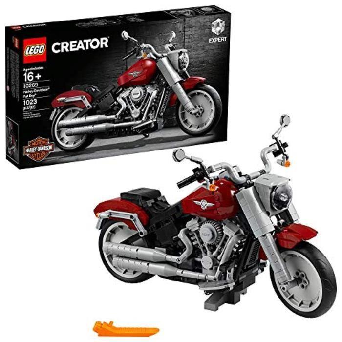 Jeu D'Assemblage LEGO QLNHY Creator Expert HarleyDavidson Fat 1269 Kit de construction, 22 (1,23 pièces)