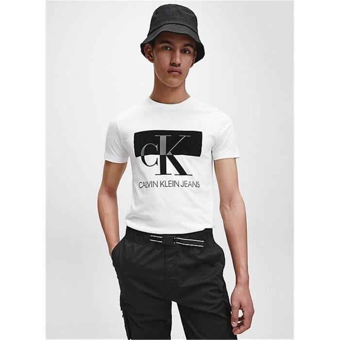 CALVIN KLEIN J30J315727 T-shirt Manche courte Homme BLANC