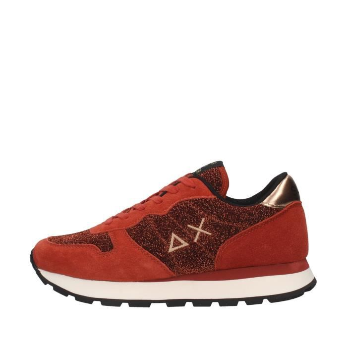 Sun68 Z40205 chaussures de tennis faible Femme ROUGE