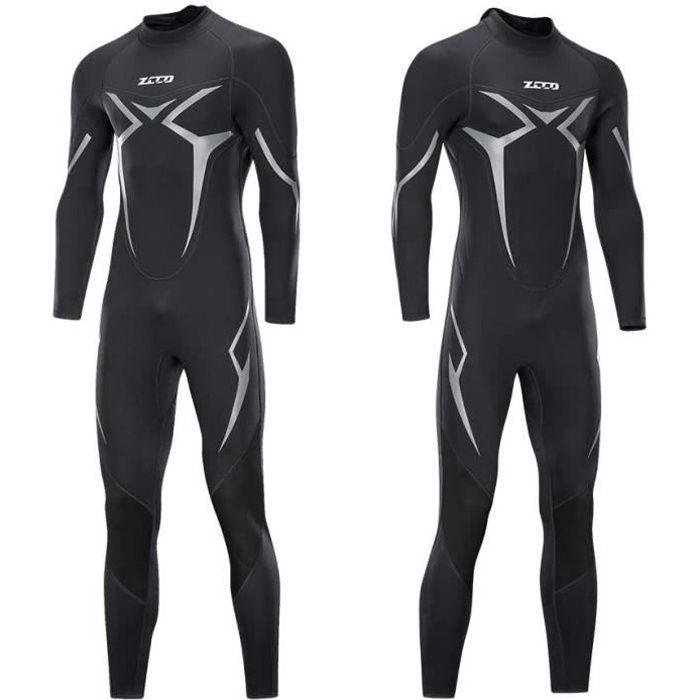 ZCCO Combinaison de plongée pour homme en néoprène de qualité supérieure à manches longues pour la pêche à la piste, la plongée, le