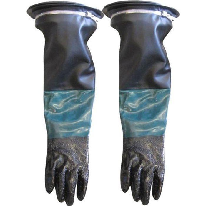 PONCEUSE PNEUMATIQUE ORBITALE 1 paire de gants de sablage 2 pièces pinces Porte-gant 2 pièces