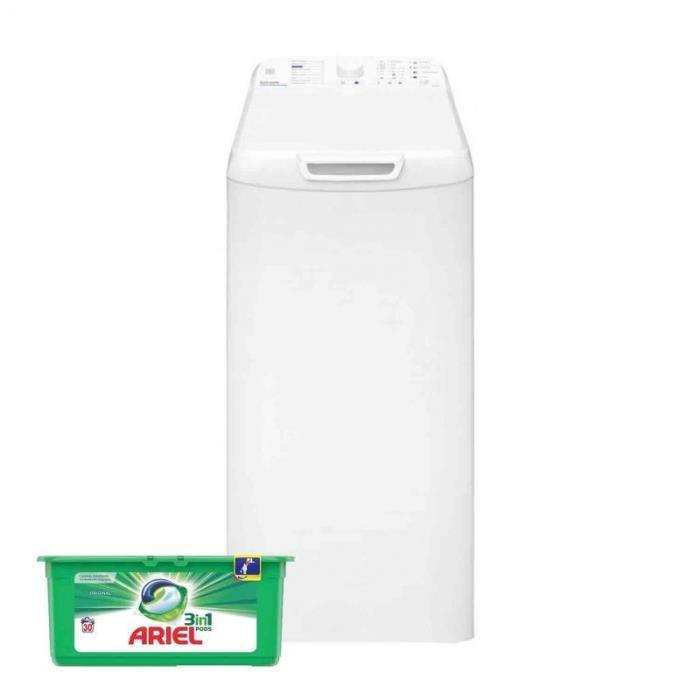 VEDETTE Lave-linge top 5.5kg 1100trs/min Anti-débordement Machine à laver 60 Blanc