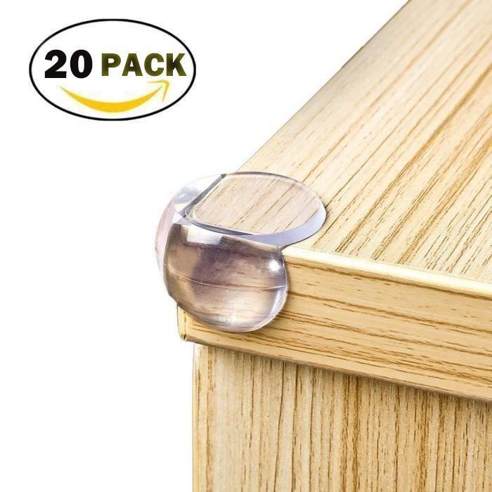 YOLISTAR 20pcs Protection Coin de Table - Protections d'angles Transparent - Plus Grande Taille et Plus Forte adhérence Doux