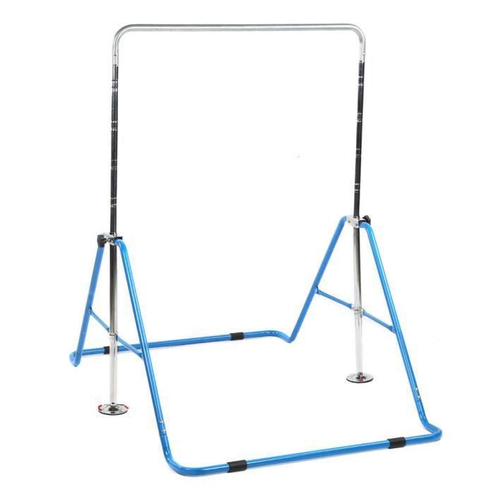 Zerone Bar de gymnastique Barres horizontales pour enfants Barre d'entraînement de gymnastique à hauteur réglable Gym à domicile