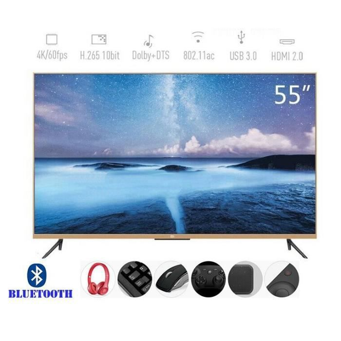 mi 4k t l viseur full hd tv hd led 140 cm 55. Black Bedroom Furniture Sets. Home Design Ideas
