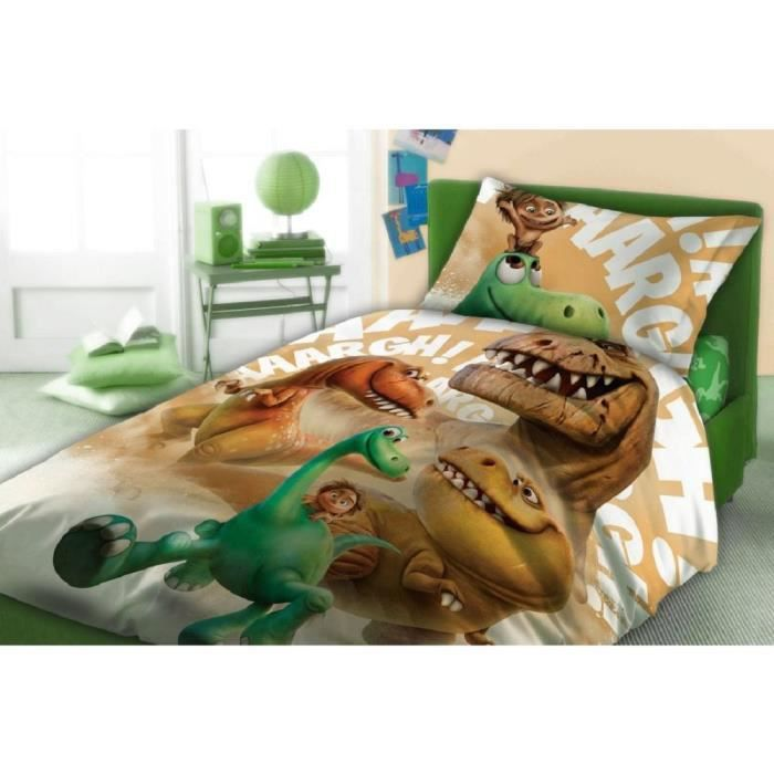 drap housse un bon dinosaure 160x200 nouveau achat. Black Bedroom Furniture Sets. Home Design Ideas