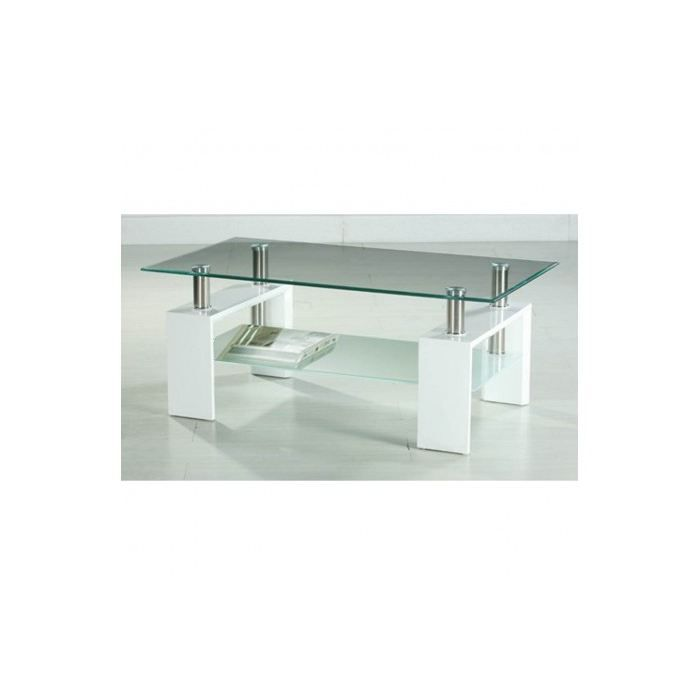 Table basse en verre design blanc x achat - Tables basses en verre design ...