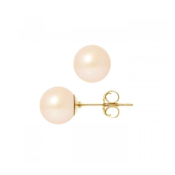 Blanc Rose Noir d/'eau douce perle crochet Boucles d/'oreilles 3 Paires 7-8 mm