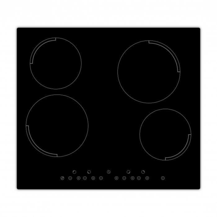 PLAQUE ÉLECTRIQUE  Exquisit Plaque de cuisson en vitrocéramique encas