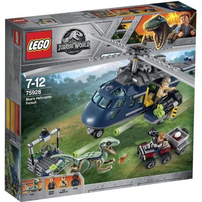 Photo de lego-jurassic-world-75928-la-poursuite-en-helicoptere-de-blue-jeu-de