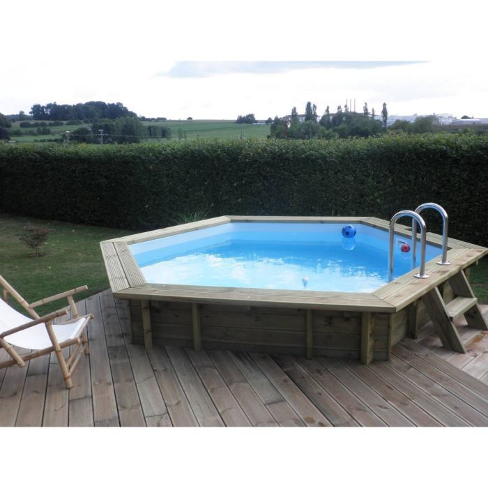 Piscine bois enterrable ronde elora l420xh125 cm achat for Piscine bois enterrable