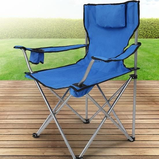 chaise de camping cpst07 bleu prix pas cher cdiscount. Black Bedroom Furniture Sets. Home Design Ideas