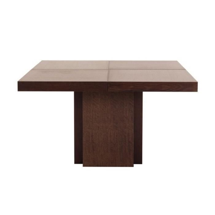 Table a manger dusk carree chocolat 150x150 achat for Table carree 150 x 150