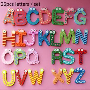 AIMANTS - MAGNETS 26 pcs / set lettre alphabet en bois aimants de ré