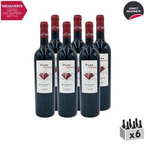 VIN ROUGE Pays d'Oc Pure Petit-Verdot Rouge 2017 - Lot de 6x