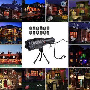 PROJECTEUR LASER NOËL 12 motif Portable LED Projecteur lampe de Poche Re