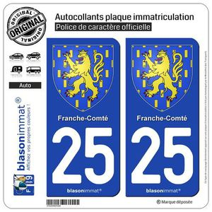 Stickers autocollants plaque d/'immatriculation Département 65 2 ex