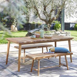Salon de jardin en bois de teck 6 à 8 places - BOIS DESSUS ...