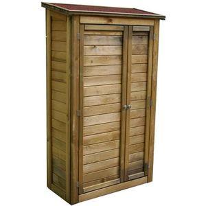ABRI JARDIN - CHALET Armoire de rangement en bois Lisboa grand modèle