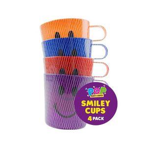 Verre à eau - Soda 4 x Smiley Face Cups Enfants Enfants En Plastique