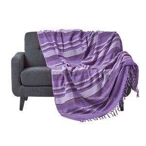 JETÉE DE LIT - BOUTIS Jeté de lit ou de canapé - Morocco rayures  - Mauv