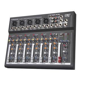TABLE DE MIXAGE Console de mixage audio portable mini ménage avec