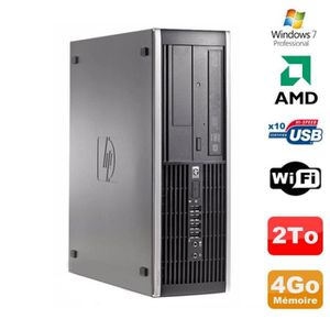 UNITÉ CENTRALE  PC HP Compaq 6005 Pro SFF AMD 3GHz 4Go DDR3 2To SA