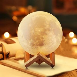 LAMPE A POSER Impression en 3D Lune Lampe - tactile lampe de che