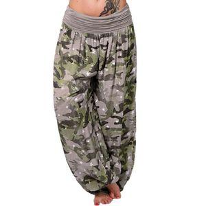 PANTALON Femmes Pantalons d'impression de camouflage Casual