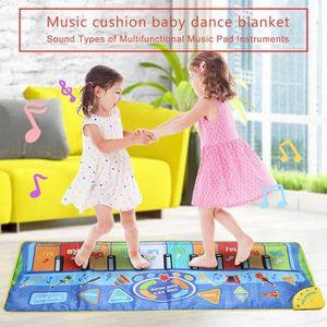 Tapis de Piano,Tapis Musical B/¡/§ b/¡/§ /¡/§ ducation 10 Lumi/¡/§/¡/§res LED Clignotantes Haut-Parleur et Enregistrement Tapis Tactile Jouet pour Enfants Jouet Musical Color/¡/§ de b/¡/§ b/&