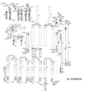 RockShox R5544110 Pi/èce de Montage de Suspension